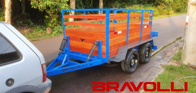 Conheça a BRAVOLLI ' Carretinha 2 eixos transporte com as nossas  - Foto 2