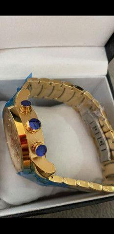 Relógio BVLGARI Skeleton Dourado a prova d'água - Foto 2