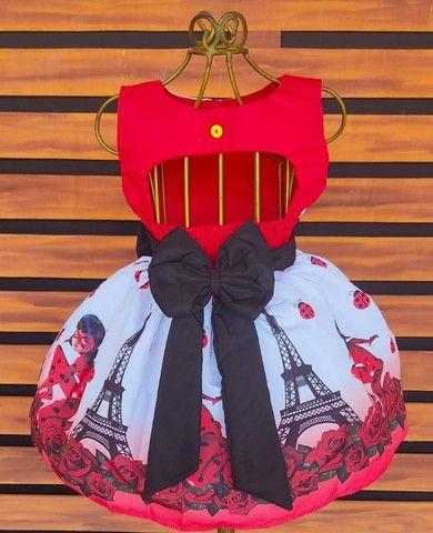Vestido Ladybug Tamanho 4 - Foto 2