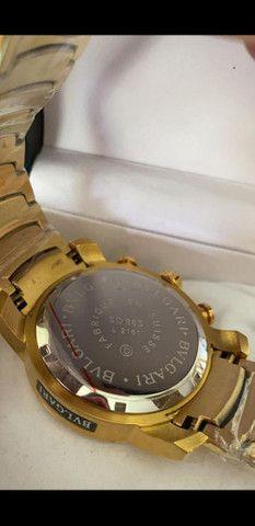 Relógio BVLGARI Coringa Dourado a prova d'água - Foto 3