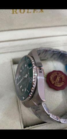 Relógio Rolex Submariner automático Fundo Verde a prova d'água - Foto 2