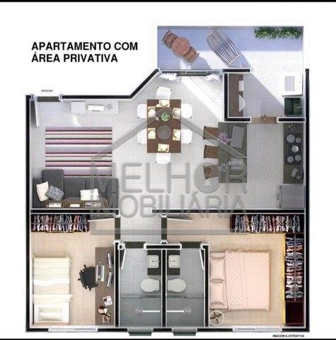 Lindo apartamento com área privativa 2 quartos - Foto 5