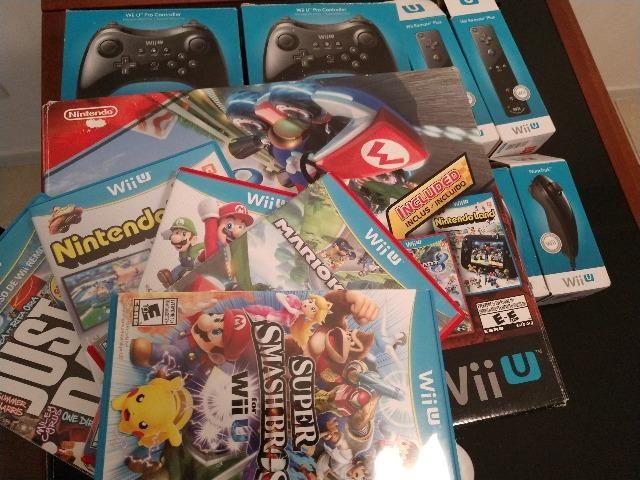 Wii U Mario Kart Deluxe Set + controles + jogos