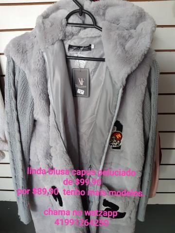 Lindas blusas sobretudo, casaco, jaqueta na promoção para o dia a dia