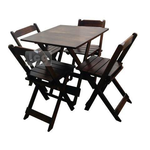 Jogo de mesa em atacado ou varejo peça ja o seu com 4 cadeiras em madeira pronta entregaa