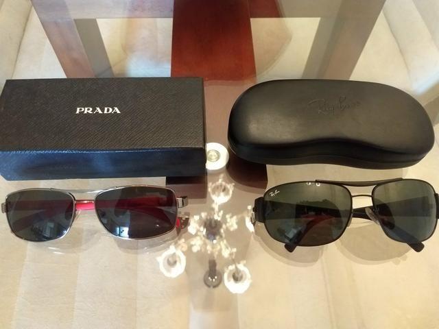 Solares - Bijouterias  3877cc4d2a7 Óculos Prada e óculos Rayban -  Bijouterias, relógios e acessórios . 35b7b1499a