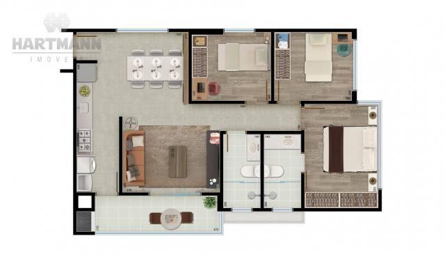 Apartamento com 3 dormitórios à venda por R$ 518.500,00 - Mercês - Curitiba/PR - Foto 10