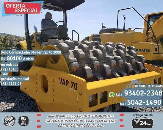 Rolo amarelo compactador Muller vap7p 2009 R$80199