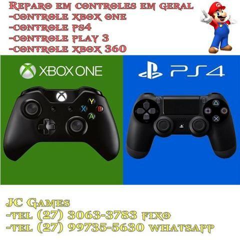 Assistencia Tecnica Especializada em manutenção de controle de video Games em geral