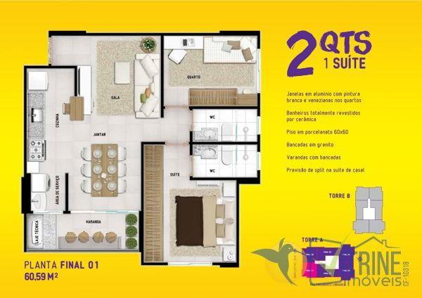 Apartamento com 2 quartos no INTENSE PARQUE CASCAVEL - Bairro Vila Rosa em Goiânia - Foto 17