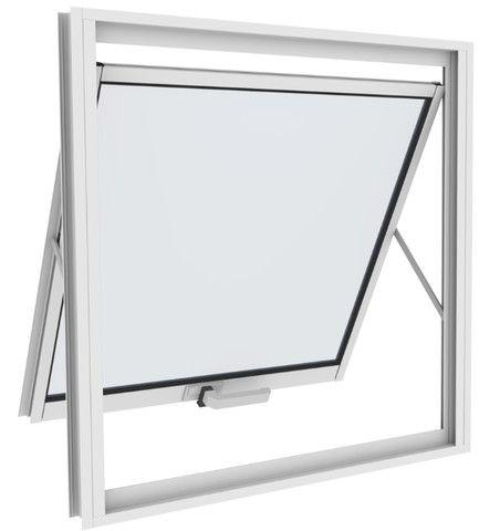 Vitro Maxim ar Aluminio branco com vidro