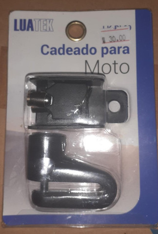 Cadeado Trava De Disco p/ Moto C/ Chave Luatek ?BL09- Aceitamos cartão de Crédito - Foto 2