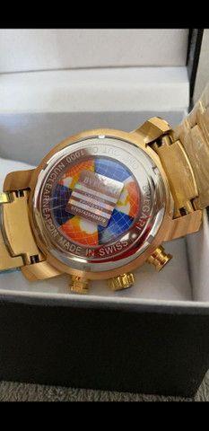 Relógio BVLGARI Skeleton Dourado a prova d'água - Foto 5