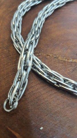 Colar cordão de aço estilo indiano de bali - Foto 2