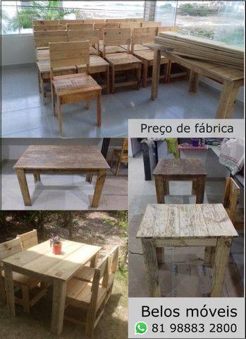 Mesas e cadeiras com preço de fábrica