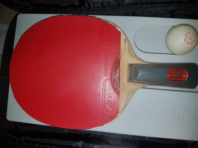 Raquete e case (tênis de mesa)