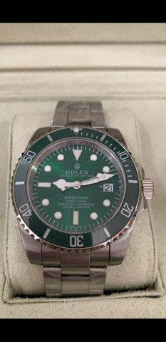 Relógio Rolex Submariner automático Fundo Verde a prova d'água