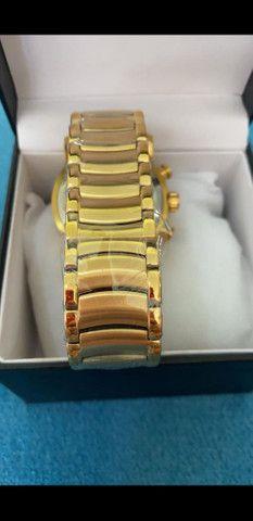Relógio BVLGARI Coringa Dourado a prova d'água - Foto 5