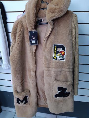 Lindas blusas sobretudo, casaco, jaqueta na promoção para o dia a dia - Foto 4