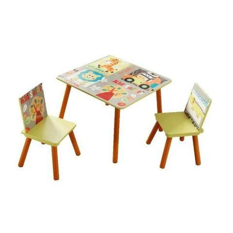Conjunto Infantil Kit 1 Mesa E 2 Cadeiras Em Mdf-import