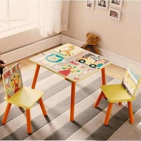 Conjunto Infantil Kit 1 Mesa E 2 Cadeiras Em Mdf-import - Foto 4