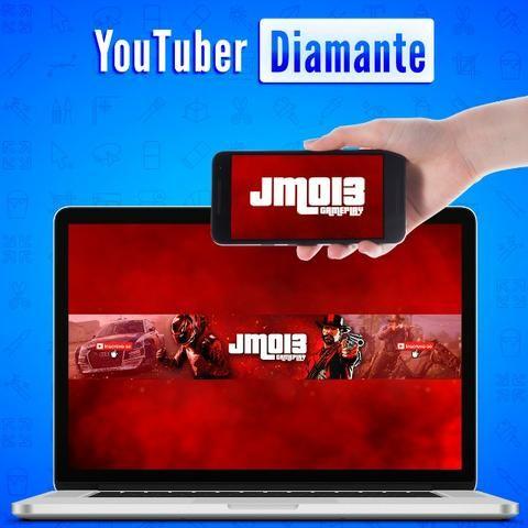 Youtuber Diamante | Identidade Visual Completa + Camisa, adesivos e cartões + 8 Bônus - Foto 6