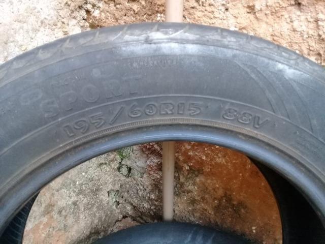 Pneus 15 meia vida/ apenas dinheiro/ */120R$ os dois pneus - Foto 2