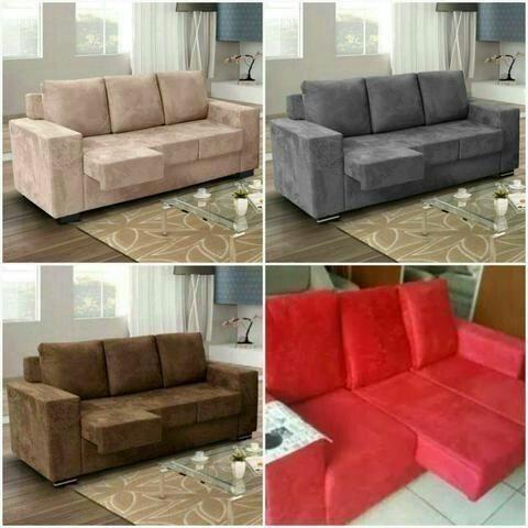 Sofa Diamante 3 lugares retratil peça já 964670161