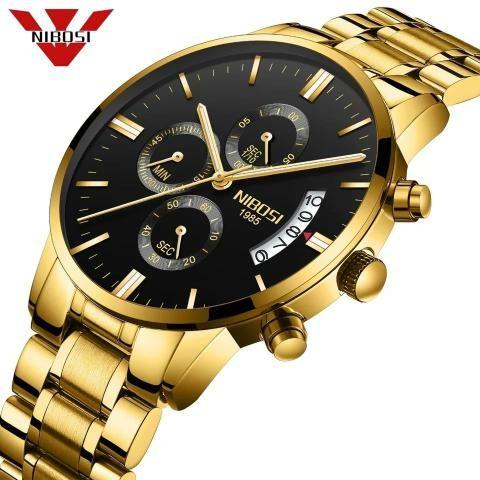 cf93c3e0e7e Relógio Nibosi Dourado