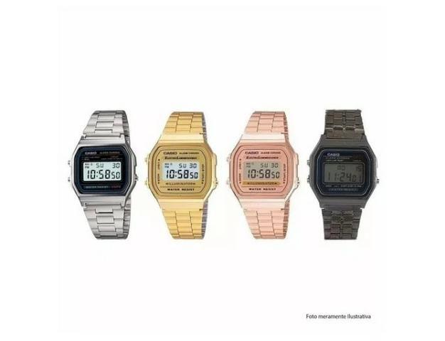 89a18c195 Relógio Casio Vintage ( preto 20 - prata 25 - rose ou dourado 30 ...