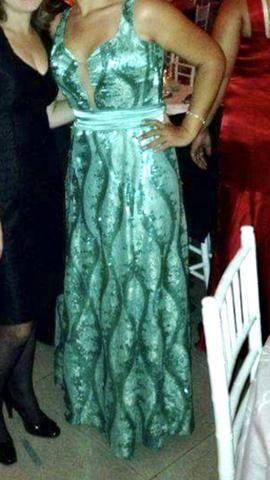87f7cb906f Vestido de Festa Verde água   Tifany - Roupas e calçados - Chácaras ...