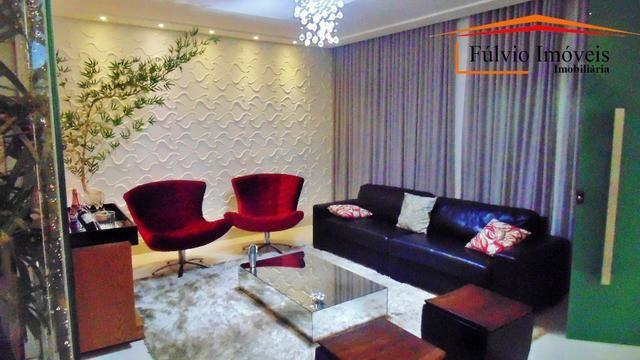 Magnífico sobrado moderno de alto padrão, 4 suítes, completo em armário e salão gourmet - Foto 3