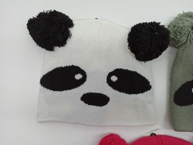 Touca Gorro Infantil Inverno Coruja Panda Guaxinim Criança - Foto 2