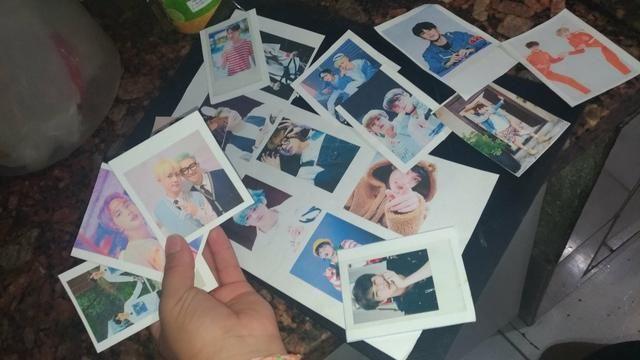 Polaroids BTS. MANDE A SUA FT