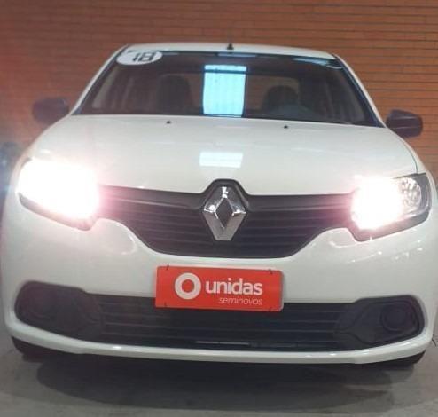Ent+ 899,00!!!! Renault Logan Authentique ano 2018 1.0 completo!!!! - Foto 3