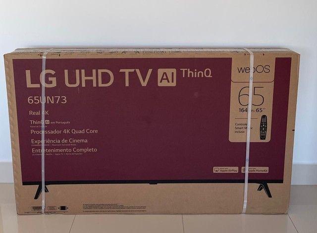 Smart TV LG 65? 4K 65UN7310PSC UltraHD Wi-Fi Controle Smart Magic Comando de Voz