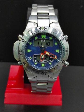 Relógio Citizen Aqualand Aço inoxidável 100% Prova d?água Jp-1060 - Foto 3
