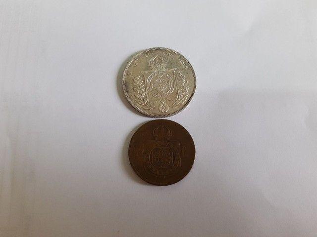 Moedas antigas de prata e bronze  - Foto 6