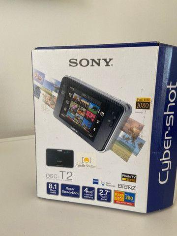 Câmera Fotográfica Sony Cyber-Shot DSC-T2 Importada Azul - Raridade - Foto 5