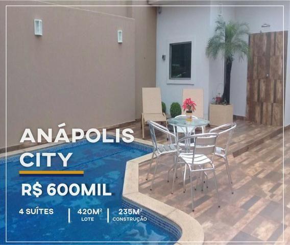 Linda casa no Anapolis City - 4 Suítes R$560Mil