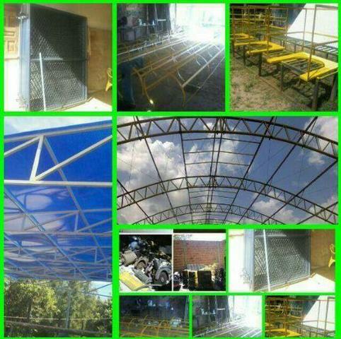 Montagem calhas de zincos e alumínios e telhados fabricação peças de inox - Foto 2
