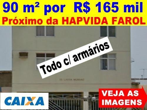 Farol - Rua da HapVida - Apto Grande -3 Quartos/Suíte