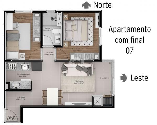 Apartamento à venda com 2 dormitórios em São roque, Bento gonçalves cod:9914242 - Foto 6