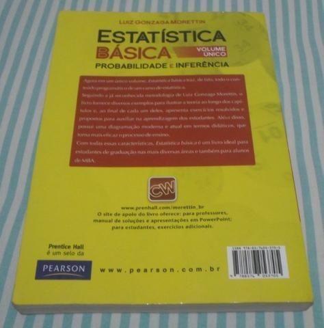 Estatística Básica - Probabilidade E Inferência - Morettin - Foto 3