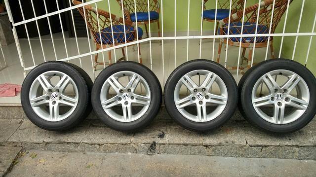 Jogo de rodas 5 furos original Honda civic Exs aro 16 - Foto 3