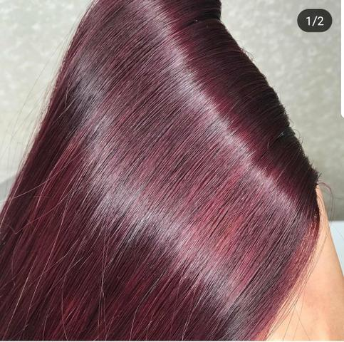 Mega pronto pra uso, metodo invisivel hair, vermelho marsala método adesivado - Foto 3