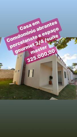 Casa 3/4 2 suítes ampla com espaço gourmet abrantes 325 mil