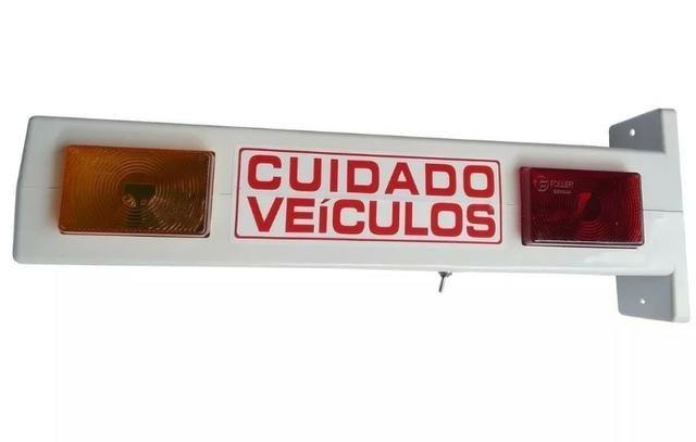 Sinaleira Para Garagem Bicolor 110 / 220v - Sonorizada