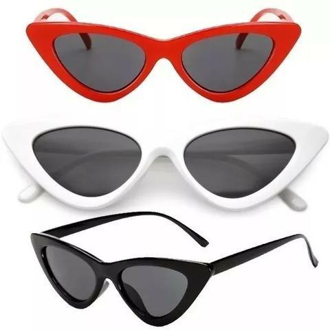 ff4801517ae4e Óculos De Sol Gatinho Anos 80 Vermelho Uv Retrô Vintage Tumblr - Novo