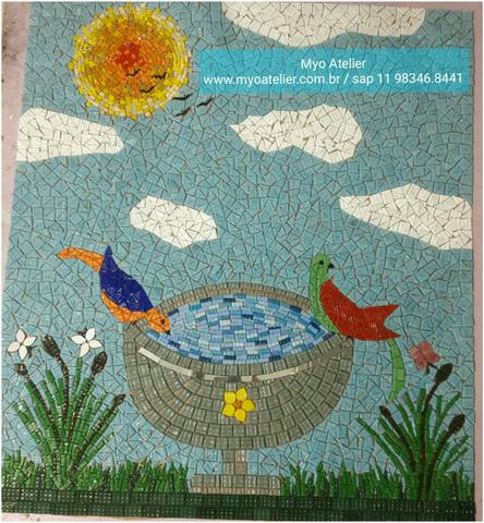 Arvore da vida, Arvore da Felicidade mosaico, piso mosaico, mandala piso - Foto 2